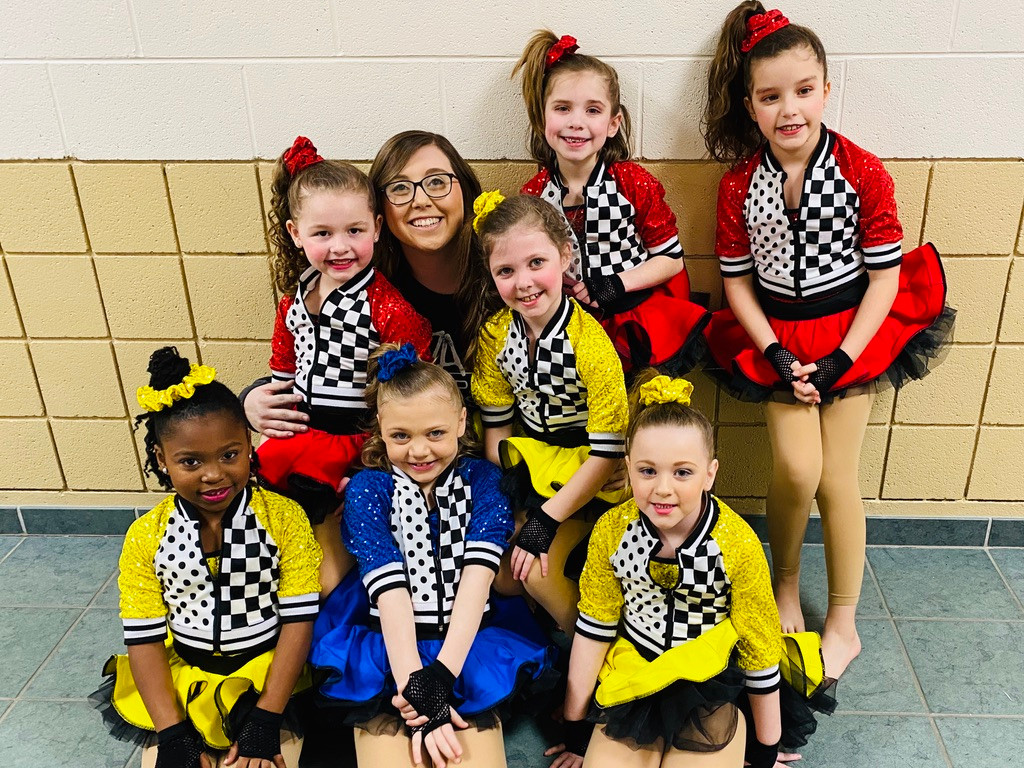 Miss Stacie with Ballet Jazz group at Recital
