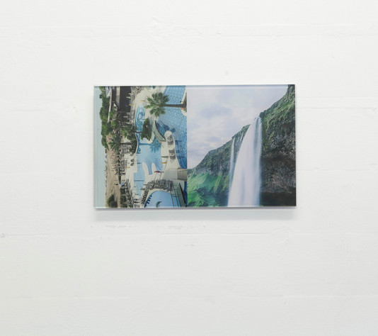 White Arch with waterfall 2020, archival pigment print and glass, 48 x 29 cm