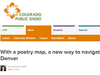 Denver Poetry Map on Colorado Public Radio