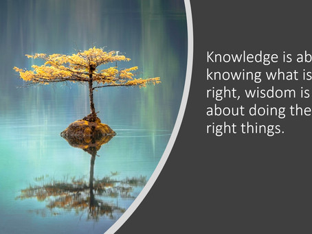 Mindful Leadership is about wisdom not knowledge