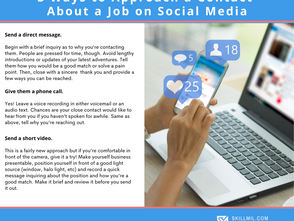 3 Ways to Approach a Contact on Linkedin and Facebook about a Job