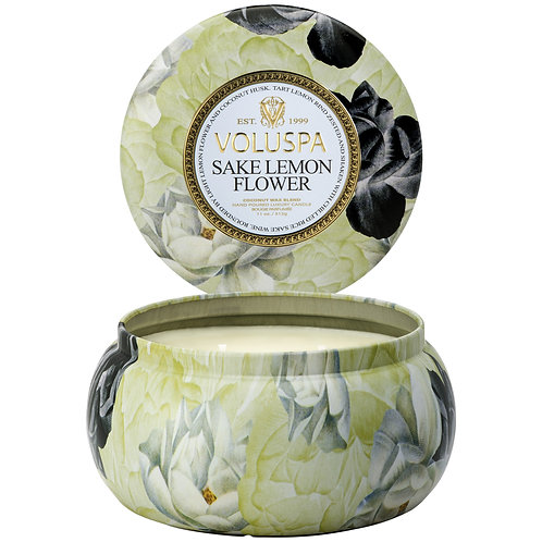 Sake Lemon Flower 2 Wick Candle