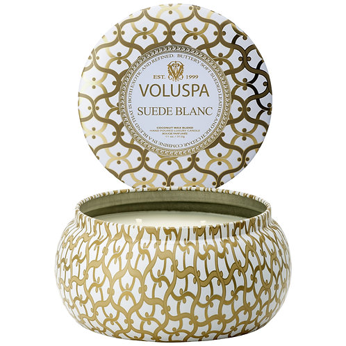 Suede Blanc 2 Wick Candle