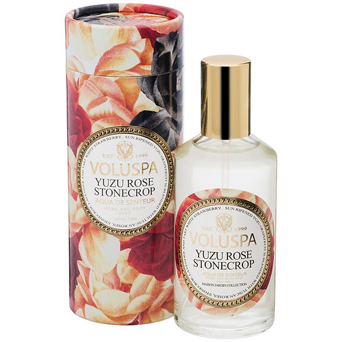 Yuzu Rose Stonecrop Aqua De Senteur - Room & Body Spray