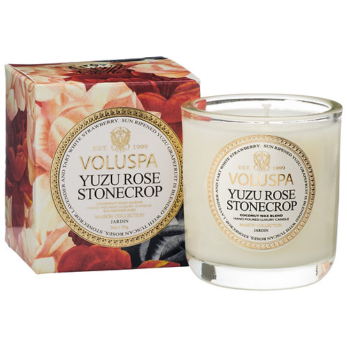 Yuzo Rose Stonecropb Classic Maison Candle