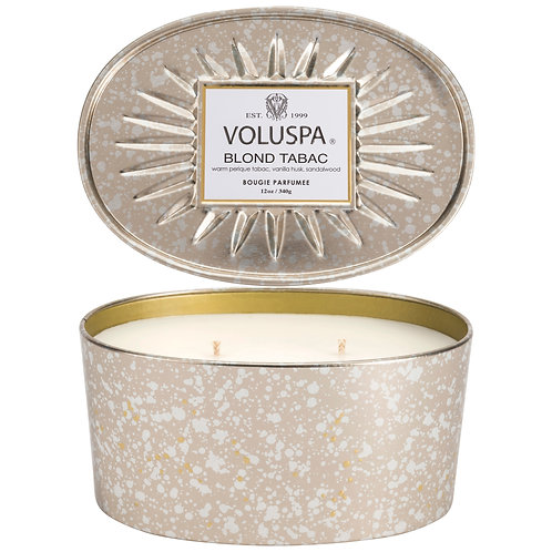 Blond Tabac Oval Tin 2 Wick Candle
