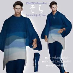 [ r-l-f ] KIMONO-sleeve shirt (men's)