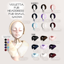 violetta. -fur headdress  fur shawl gacha