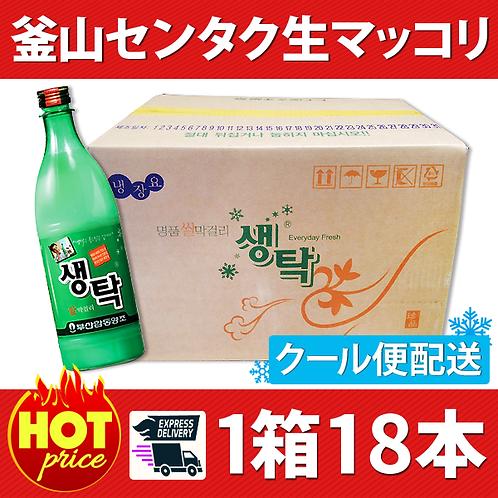 釜山生マッコリ(ペット) 1箱18本(クール便無料発送)