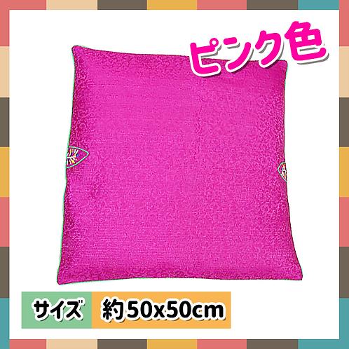 座布団カバー(ピンク色)