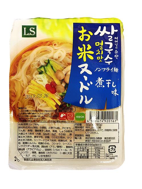 お米ヌードル煮干し味