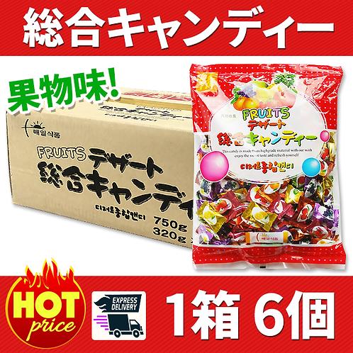 総合キャンディー(果物味) 1箱6個