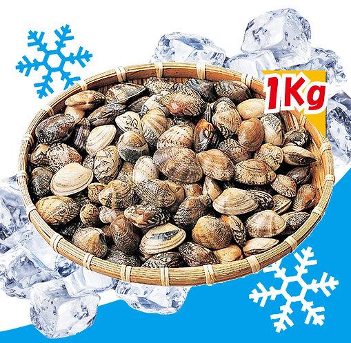 冷凍殻付あさり