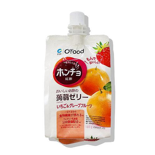 紅酢(ホンチョ)蒟蒻ゼリー【いちご&グレープフルーツ】