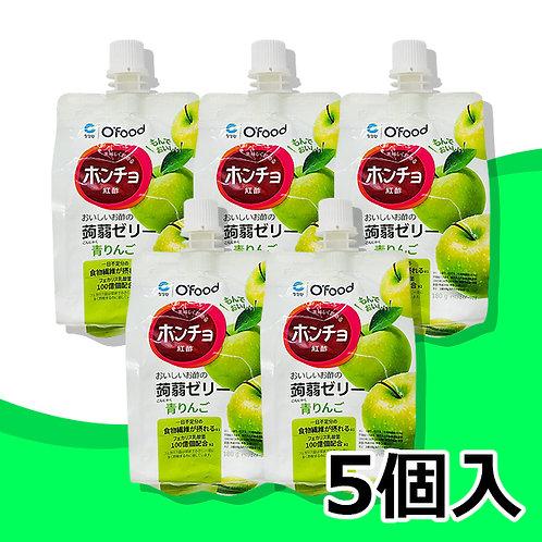 紅酢(ホンチョ)蒟蒻ゼリー【青りんご】5個セット