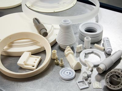 Industrial ceramic parts for military use.