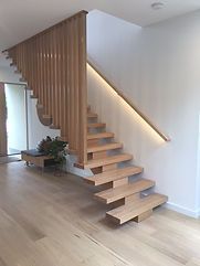 A Closed Style Staircase With The Bottom Flight And Landing Manufactured  From Vic Ash, Remainder In MDF With A Carpet Finish. A Nice Solid Timber  Screen ...