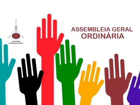 CONVOCAÇÃO ASSEMBLEIA GERAL ORDINÁRIA - 15.12