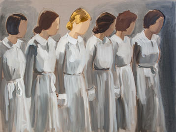 Six Girls in Uniform