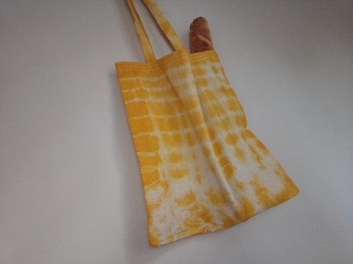 Sarı Batik Bez Çanta