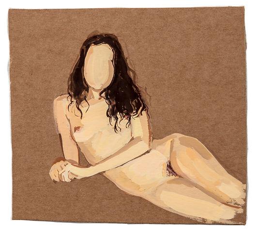 GR - 3021 - Nude_12.5x14cm_gouacheoncard