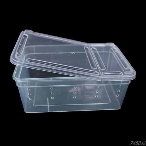 Caixa plástica para terrário e alimentação (Articulável)