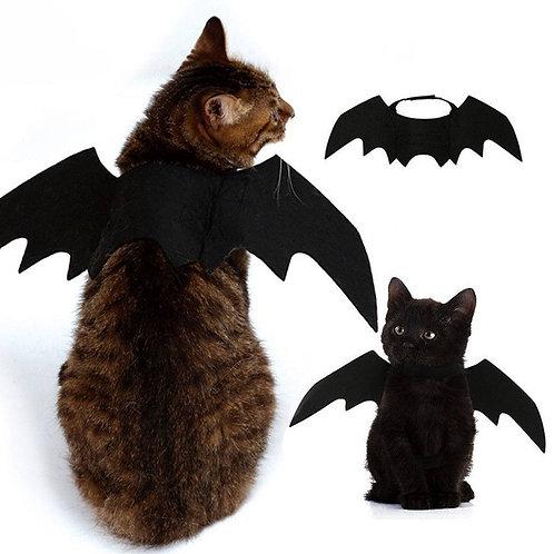 Asa de morcego, fantasia para gato ajustável.