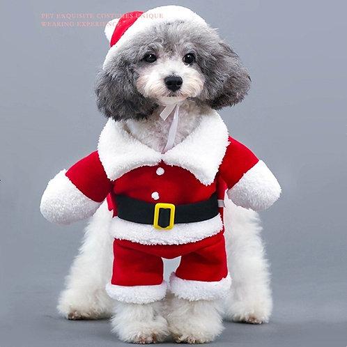 Roupa de Papai Noel para cães e gatos