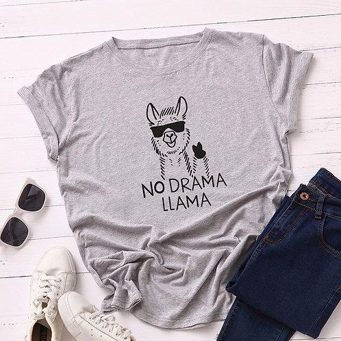 Camiseta Feminina No Drama Lhama