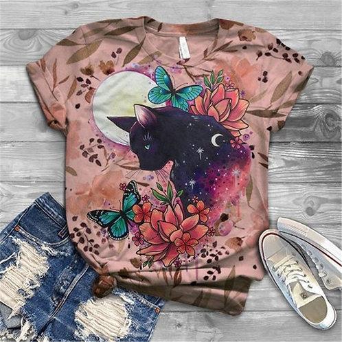 Camiseta Feminina Gatos