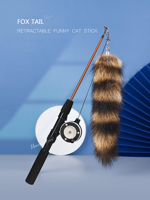 Vara com pelúcia para gatos.