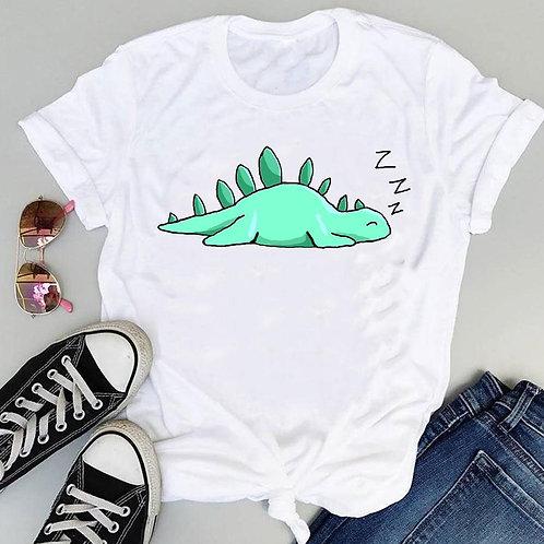 Camiseta Feminina Dinossauro Engraçado