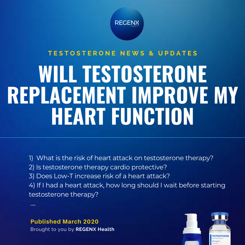 Will I have a heart attack if I take testosterone replacement therapy