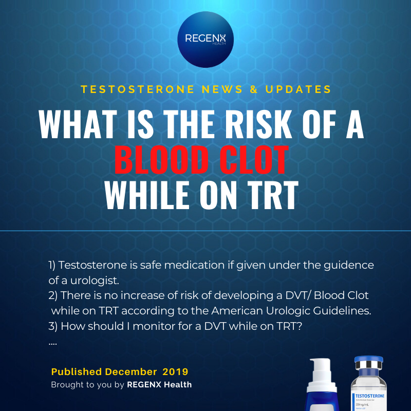Risk of Blood Clot and DVT on Testosterone Replacement Therapy for Low-T