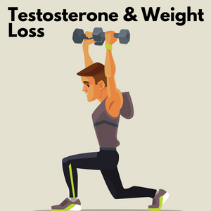 A fit man on testosterone therapy exercising to lose weight.