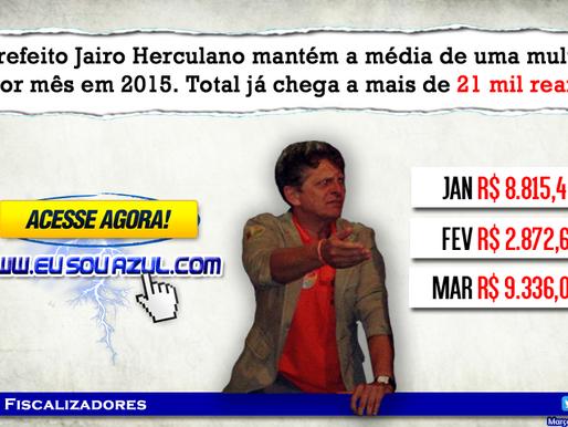 Prefeito de Montadas, Jairo Herculano mantém a média de uma multa por mês