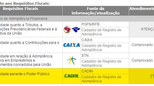 Montadas/PB está impedida de receber recursos da União devido a irregularidade  junto ao CADIN