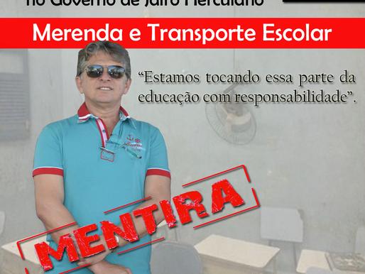 EDUCAÇÃO DE MONTADAS (Parte II): Merenda e Transporte Escolar