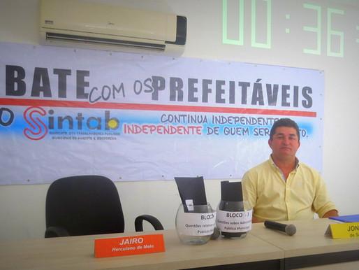 Arregou. Candidato a prefeito de Montadas, Jairo Herculano (PSB), faltou ao debate realizado pelo SI