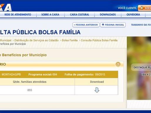 Dados da CAIXA contrariam divulgações da Prefeitura de Montadas sobre o Bolsa Família