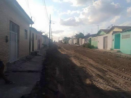 Calçamento da rua João Ginú dos Santos não passa de uma grande mentira eleitoral!