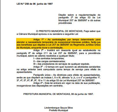 Os Contratados por Tempo Determinado da Prefeitura de Montadas/PB têm direito ao 13º salário?
