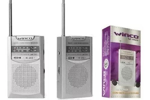 Radio Portatil Am Fm Winco W-203 Parlante Con Auriculares To