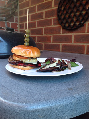 Halloumi Burgers on the Hellfire Halo