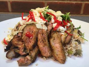 Mediterranean Lamb Steak and Cous Cous