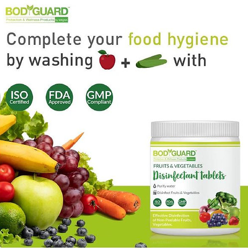 Bodyguard Fruits And Vegetables Disinfectant Tablets