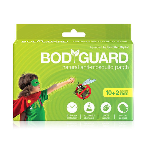 Bodyguard Natural Anti -Mosquito Patches (12 Patches)