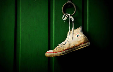 shoe with star house statistic to the le