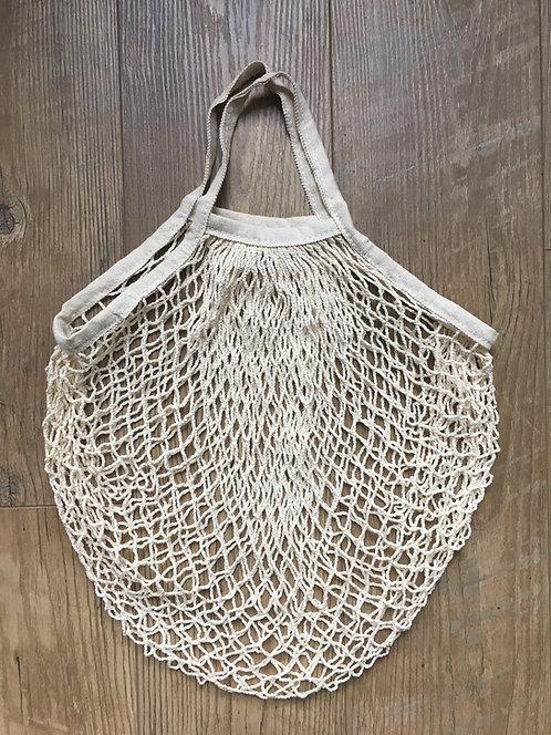 Cotton Mesh Tote Bags Short Handle