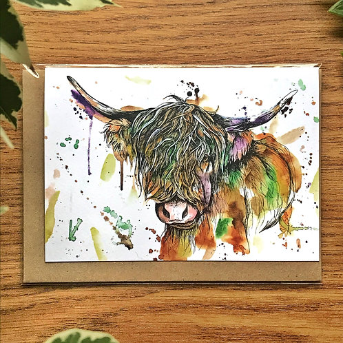 Highland Cow - Greetings Card